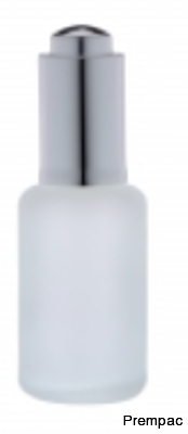 ROUND FROSTED GLASS SERUM BOTTLES-SO-042