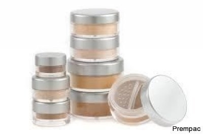 PLASTIC COSMETIC MINERAL POWDER JARS SO-019