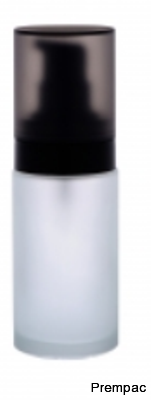 ROUND FROSTED GLASS BOTTLES-LY-039